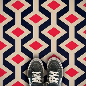 Fenchurch coloured geometric vinyl flooring exlusively from forthefloorandmore.com