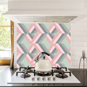 Image of Grafyx Pink geometric abstract design from Mort & Hex and forthefloorandmore.com
