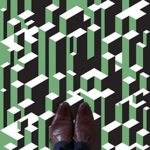 Image of Vektr pattern as a 3D Vinyl Flooring available at forthefloorandmore.com
